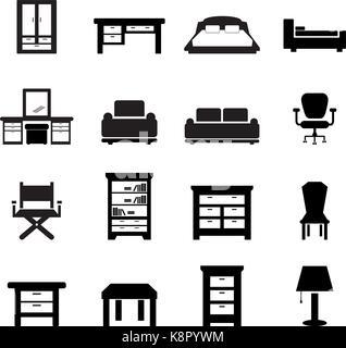 Furniture icon - Stock Photo