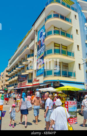 Flower Street, Sunny Beach, Bulgaria - Stock Photo