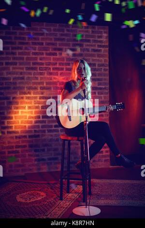 rock singer in the dark