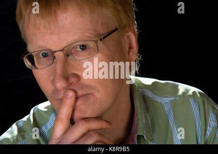 Dr.Phil Hammond with his resuscitation dummy used for his comedy stage show. - Stock Photo