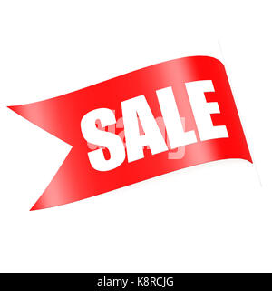 Red sale label - Stock Photo