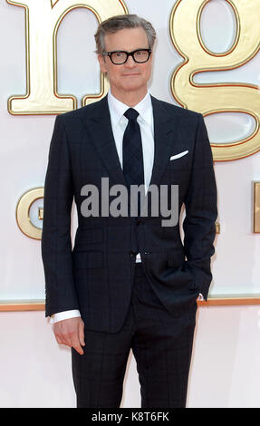 Photo Must Be Credited ©Alpha Press 078237 18/09/2017 Colin Firth at the Kingsman The Golden Circle World Movie - Stock Photo