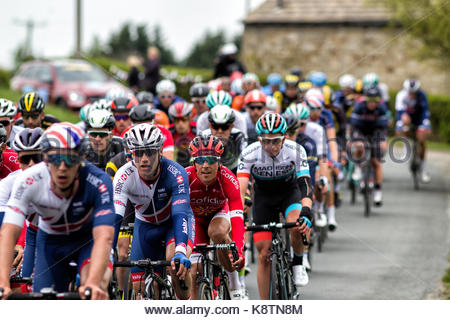 Mens Cycling | Tour De Yorkshire | Harrogate | 29th April 2017 - Stock Photo