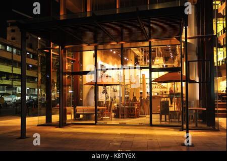 Industrial loft bar style - Stock Photo