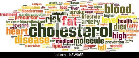 Cholesterol word cloud concept. Vector illustration - Stock Photo