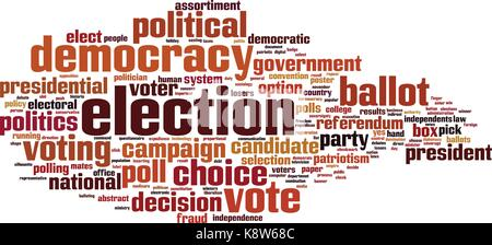 Election word cloud concept. Vector illustration - Stock Photo
