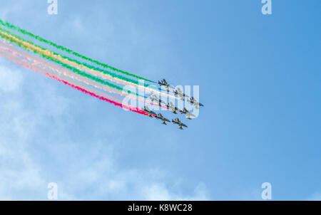 Frecce Tricolori, the Italian air display team - Stock Photo