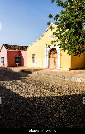 San Clemente Church (Iglesia de San Clemente), built in 1538. Coro, Falcon state, Venezuela. - Stock Photo