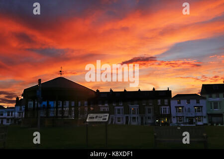 Walmer Bandstand and Strand sunset #2 - Stock Photo