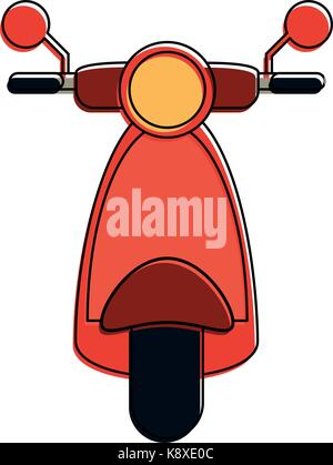 scooter motorbike frontview icon image  - Stock Photo