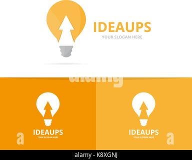 Vector Lamp And Arrow Up Logo Combination Lightbulb And Growth