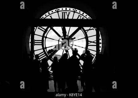 Musée d'Orsay Clock, Victor Laloux, Main Hall - Stock Photo