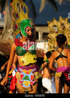 SAN JUAN, NICARAGUA - NOVEMBER 24: Portrait of the participant in the parade in the city San Juan of Nicaragua in - Stock Photo