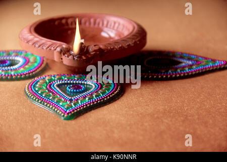 Indian Festival , Diwali lamp - Stock Photo