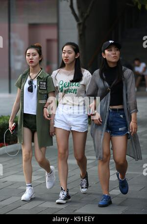 Beijin, Beijin, China. 22nd Sep, 2017. Beijing, CHINA-21st September 2017: (EDITORIAL USE ONLY. CHINA OUT).Street - Stock Photo