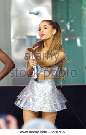 Ariana Grande performs live on NBC's 'Today' show ...