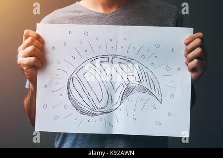 Ideas and innovations, creativity in graphic design, illustration and writing - Stock Photo
