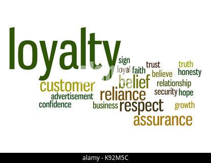 Loyalty word cloud - Stock Photo
