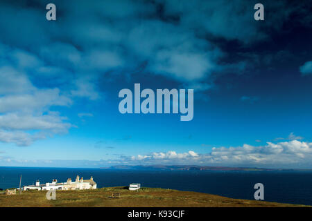 The Orkney Islands of Hoy and Mainland and The Pentland Firth from Dunnet Head, mainland Britain's northernmost - Stock Photo