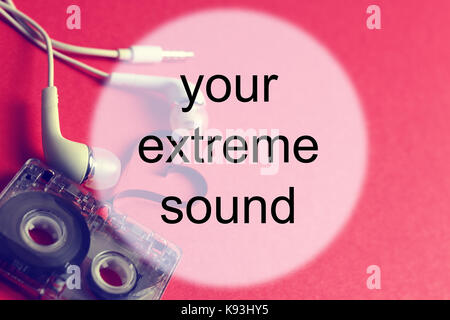 audiocassette background sound - Stock Photo