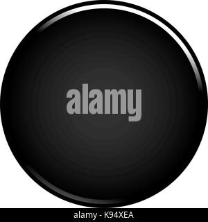 Black glossy button empty web internet icon circle empty shape. Vector illustration a graphic element for web internet - Stock Photo