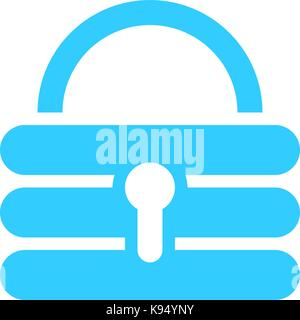 Flat padlock icon lock sign password button. Quick and easy recolorable shape isolated from background. Vector illustration - Stock Photo