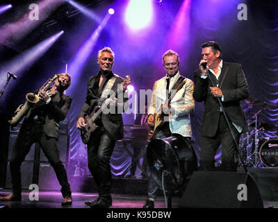 British pop group Spandau Ballet in concert in 2015 - Stock Photo