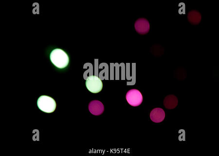 A photo of blurry street lights - Stock Photo