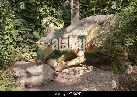 Kemer; Turkey-August 14; 2017: Maiasaura- Late Cretaceous /74 million years ago. In the Dinopark - Stock Photo