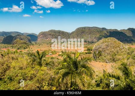 Mogotes, Vinales National Park, UNESCO World Heritage Site, Vinales Valley Pinar del Rio Province,  Cuba, Caribbean - Stock Photo