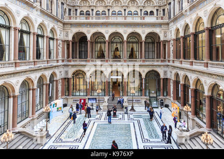 The Durbar Court at the former India Office, British Foreign and Commonwealth Office, Westminster, London, England, - Stock Photo