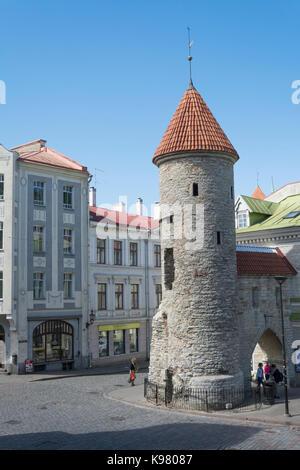 Viru väravad (Viru Gate) to Tallinn old town - Stock Photo