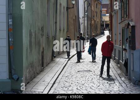 Sauna Street in Tallinn Old Town - Stock Photo