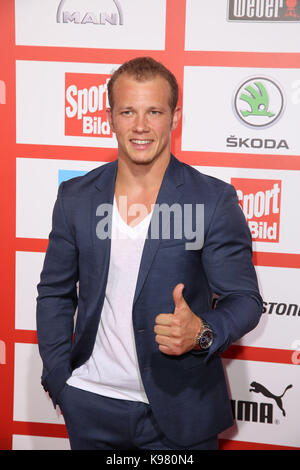 Sport Bild Award 2017 at Fischauktionshalle, Hamburg.  Featuring: Fabian Hambuechen Where: Hamburg, Germany When: - Stock Photo