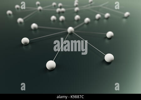 3d rendering of abstract sphere network - Stock Photo
