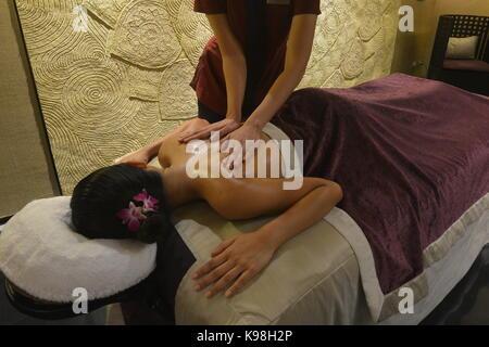 Pampering spa treatment, Bangkok, Thailand - Stock Photo