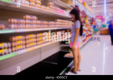 The people shopping is on the supermarket - Stock Photo
