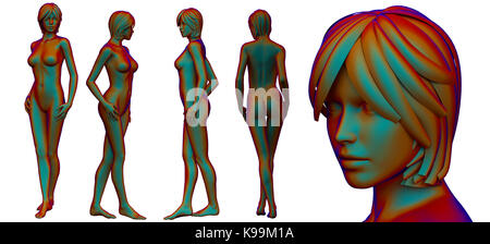 3d rendering medical illustration of the female anatomy - Stock Photo