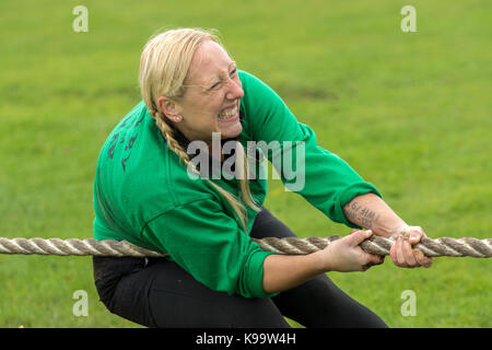 Southport, Merseyside, UK. 22nd Sep, 2017. Wallby team from Sweden at the European Outdoor Tug of War Championships - Stock Photo