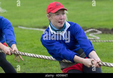 Southport, Merseyside, UK. 22nd Sep, 2017. Swedish team at the European Outdoor Tug of War Championships and 2017 - Stock Photo