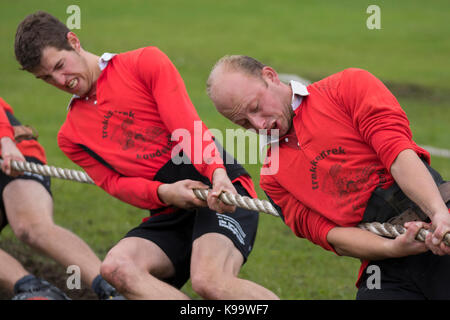 Southport, Merseyside, UK. 22nd Sep, 2017. European Outdoor Tug of War Championships held at Carr Lane, Southport. - Stock Photo