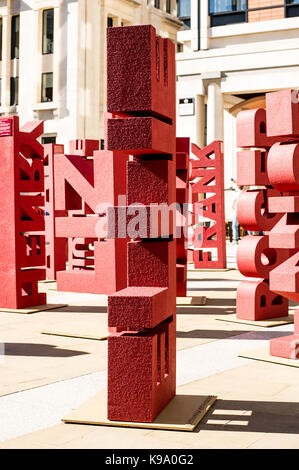 London, UK. 22nd Sep, 2017. Janssen Oncology have collaborated with nine blood cancer groups to raise awareness - Stock Photo