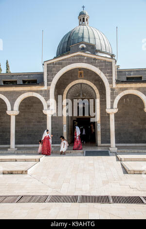 Eritrean wedding ceremony at the Church of the Beatitudes on the northern coast of the Sea of Galilee in Israel. - Stock Photo