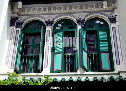 Arched windows with green wooden shutters of cape dutch homestead in stock photo 24655638 alamy for Exterior window shutters south africa