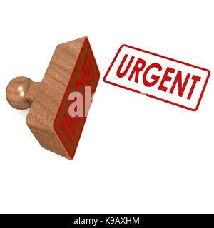 Urgent stamp - Stock Photo