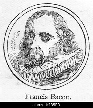 A 1910 sketch portrait of Francis Bacon, 1st viscount St Alban - Stock Photo