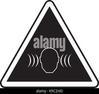 High noise levels warning sign - Stock Photo