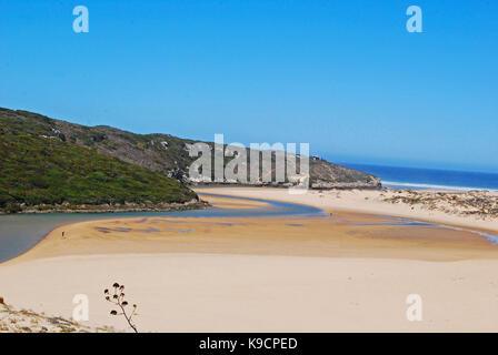 Amoreira Beach Aljezur Western Algarve - Stock Photo