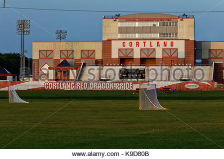Sports complex at State University of New York, Cortland, NY, USA - Stock Photo