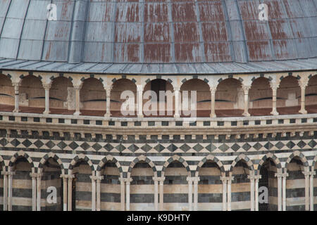 Italy, Siena - December 26 2016: the close up view of the of the dome of Duomo di Siena. Metropolitan Cathedral - Stock Photo